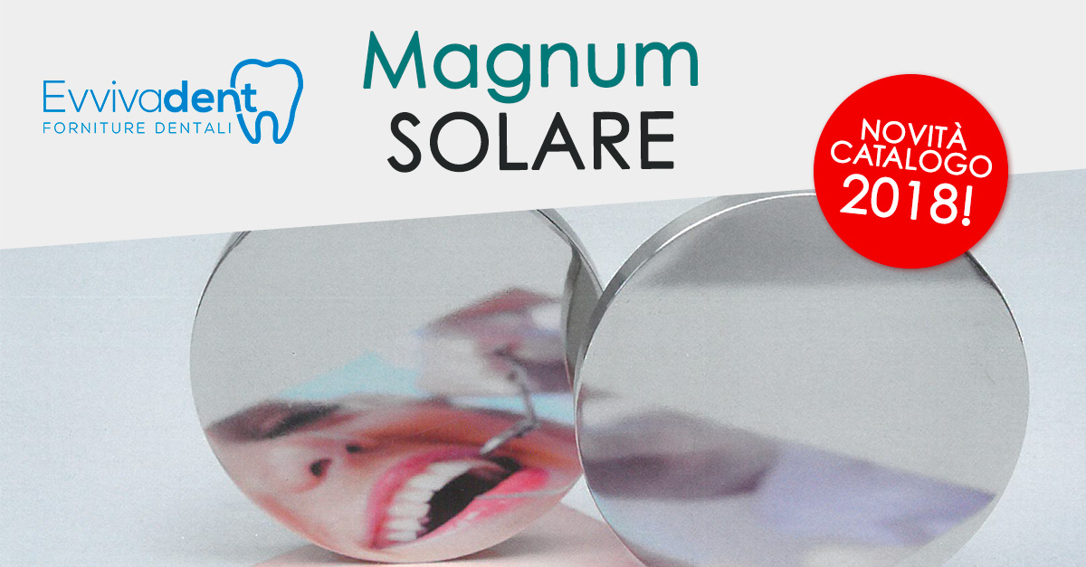 Novità prodotti per dentisti e odontotecnici: il disco Magnum Solare